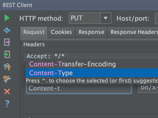 Setting content type