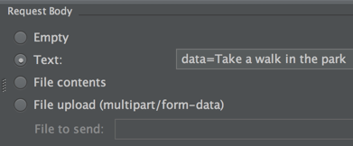 Adding data to the request body